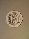 Scallop Edge Wall Monogram