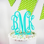 Acrylic Monogrammed Cake Topper