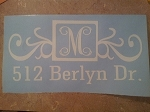 Mailbox Decals- SET includes 2 large side decals and numbers for the door!