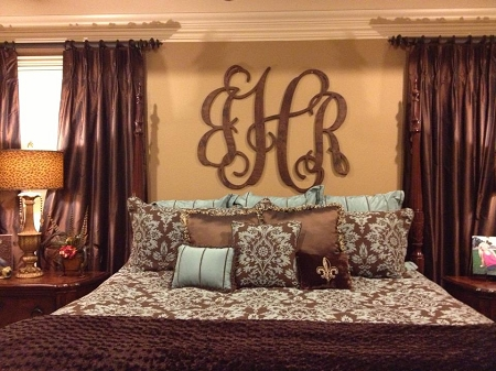 24 inch tall wooden wall monogram
