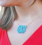 Monogrammed Necklace (Acrylic)