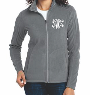 Monogrammed Long Sleeve Fleece Jacket (Ladies)